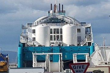 """Ubicación de los tanques de GNL en el buque """"Bahama Mama"""""""