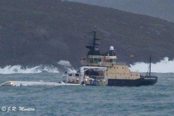 """El remolcador """"Union Princess"""", en su etapa como """"Anglian Princess"""", entrando en la ría de A Coruña"""