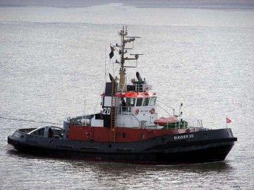 """Estampa marinera del remolcador """"Bugsier 20"""""""
