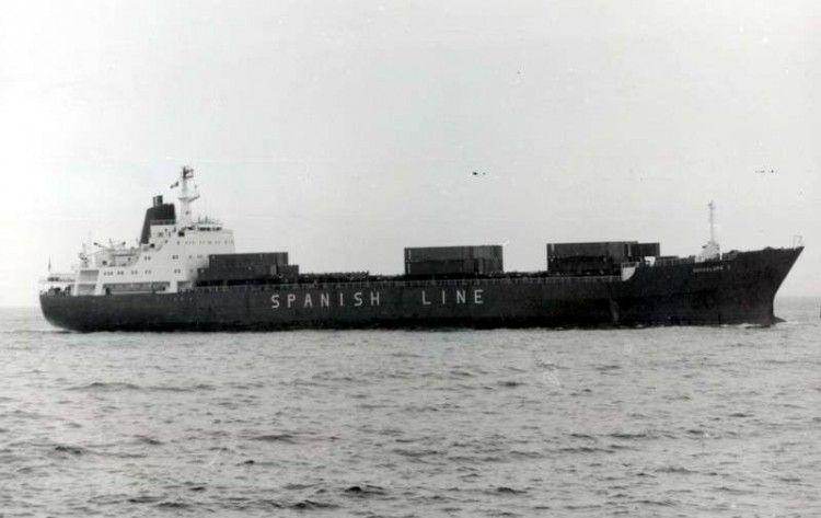 """El buque """"Guadalupe I"""", en su etapa con Compañía Trasatlántica"""