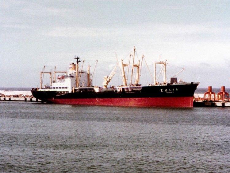 """Estampa marinera del buque """"Zulia"""""""