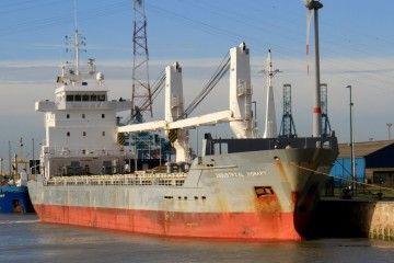 """El buque """"Industrial Hobart"""", ahora renombrado """"Brens"""""""
