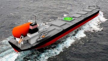 Imagen del futuro buque carbonero operado por NYK