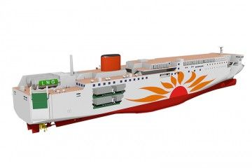 El proyecto de los nuevos ferries sigue el típico diseño de los astilleros japoneses