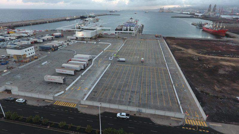 Panorámica de la parcela que ocupa Naviera Armas en el puerto de Las Palmas de Gran Canaria