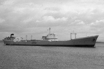 """Estampa marinera del petrolero """"Alcolea"""", ex """"Río Cubas"""""""