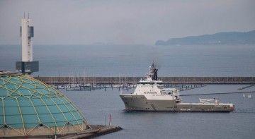 """El remolcador """"Boka Pegasus"""", a su llegada esta tarde a A Coruña"""