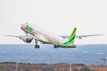 Binter ya tiene tres aviones E2, de una flota de cinco previstos