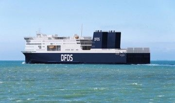 Este seré al aspecto exterior de los nuevos ferries de DFDS