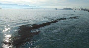 Así quedó la lámina de agua del puerto de Santander