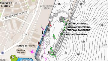 Situación de los cuatro remolcadores de FairPlay atracados en el puerto de Santa Cruz de Tenerife