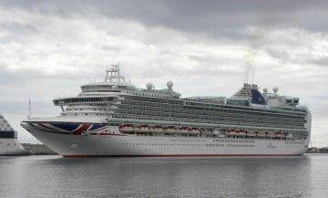 """El megacrucero """"Ventura"""" estuvo hoy en el puerto tinerfeño"""