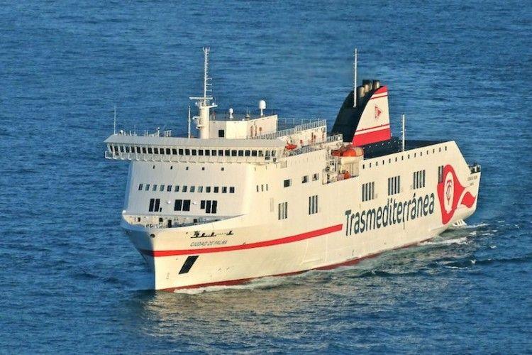 """Estampa marinera del buque """"Ciudad de Palma"""""""