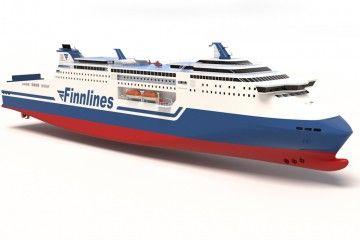 Aspecto exterior de los futuros buques contratados por Finnlines