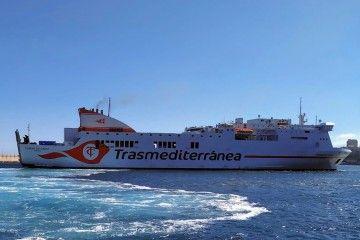 """El buque """"Ciudad de Cádiz"""", en una de sus últimas escalas en el puerto de Santa Cruz de Tenerife"""