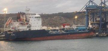 """El buque """"Blue Star"""" está atracado en el puerto exterior de Ferrol"""