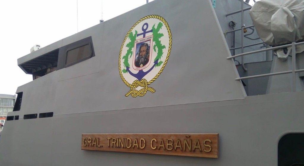 """El buque rinde homenaje a la memoria del """"General Trinidad Cabañas"""""""