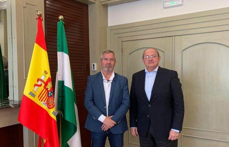 Los presidentes de las autoridades portuarias de Motril y Melilla, en su reunión de hoy