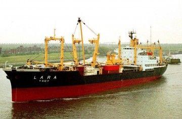 """Estampa marinera del buque """"Lara"""""""