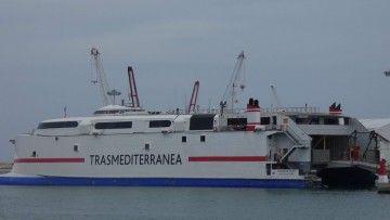 """Estampa marinera del catamarán """"Ciudad de Ceuta"""", ex """"Milenium Dos"""""""