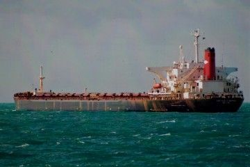 "Estampa marinera del bulkcarrier ""Castillo de Gormaz"""