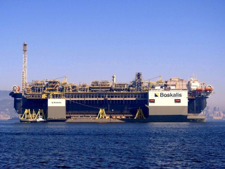"""El buque FPSO """"Petrobas 70"""" forma parte de una serie de cuatro similares, como el FPSO """"Petrobas 67"""", en la imagen"""
