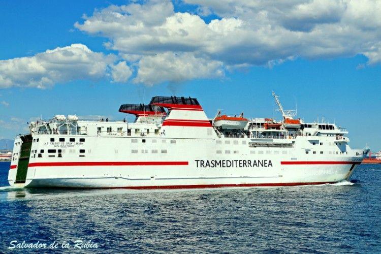"""Estampa marinera del ferry """"Las Palmas de Gran Canaria"""""""