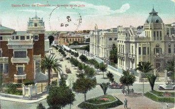 El palacete de Juan Martí Dehesa (derecha), luego sede en Pious School