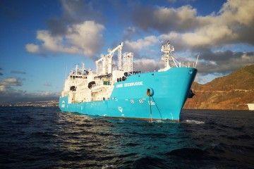 """""""Engie Zeebrugge"""", uno de los buques que suministra GNL en el puerto de Santa Cruz de Tenerife"""