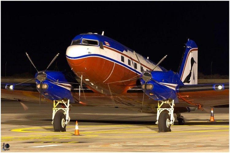 El avión, magníficamente conservado, luce este aspecto radiante
