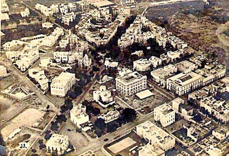 Vista aérea parcial de la ciudad de Santa Cruz de Tenerife en la primera mitad de la década de los años treinta del siglo XX