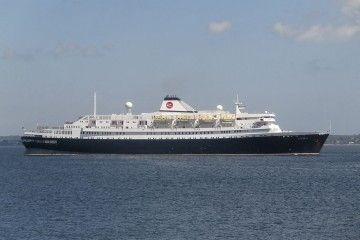 """Estampa marinera del buque """"Astoria"""", un emblema en la historia de la industria turística"""