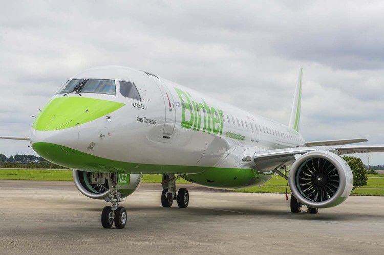 Binter tiene una flota de tres aviones E2