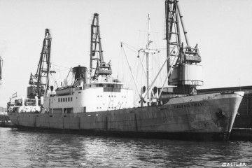 """El buque a vapor """"Cabo del Pinar"""", ex """"Villafranca"""""""