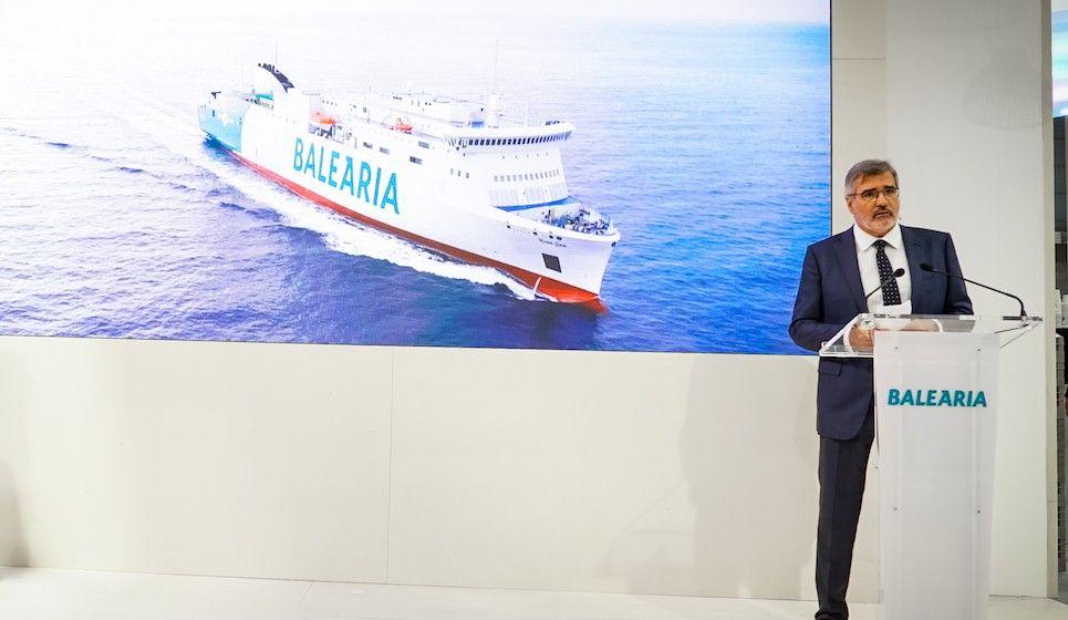 Adolfo Utor, presidente de Balearia, en su intervención