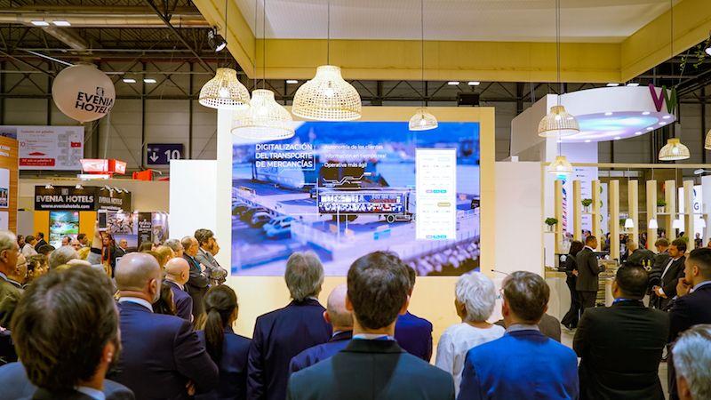 La presentación del proyecto, en el stand de Fitur 2020