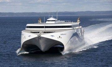 La flota de Molslinjen esta compuesta por catamaranes construidos en Australia