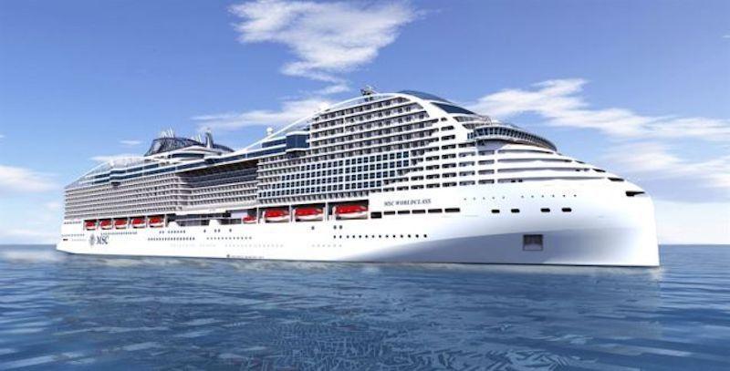 """Este será el aspecto exterior del buque """"MSC Europa"""""""