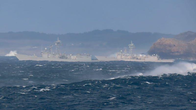 Dos fragatas con base en Rota participan en los ejercicios