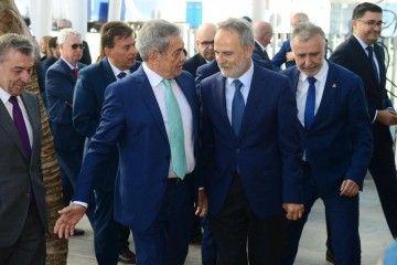 Antonio Armas Fernández recibe al presidente de Puertos del Estado, Salvador de la Encina