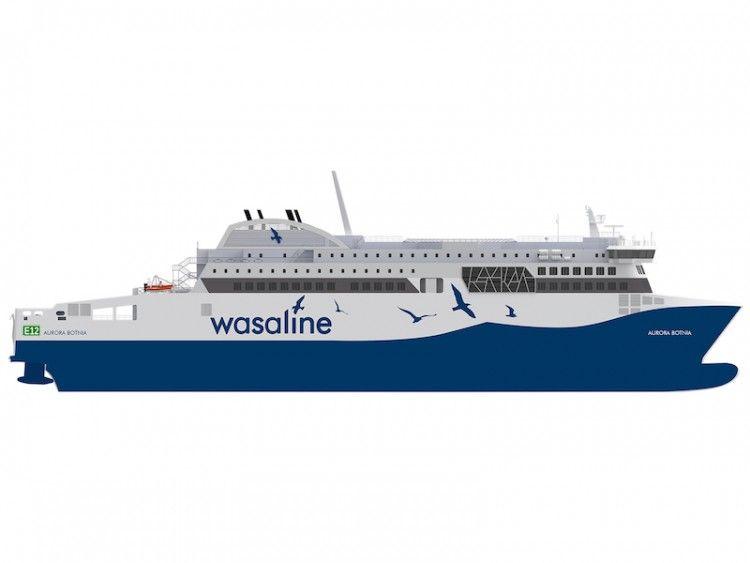 """Este será el aspecto exterior del ferry """"Aurora Botnia"""""""