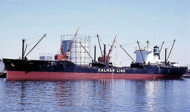 """El buque """"Calmar"""", en su aspecto mercante. Después se llamaría """"Orinoco"""""""