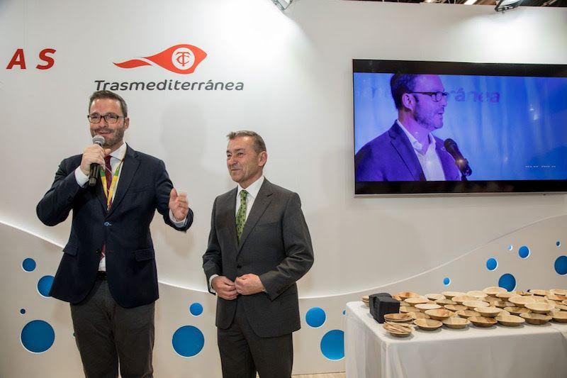 José Hila, alcalde de Palma y Paulino Rivero, en la presentación de TaPalma 2020