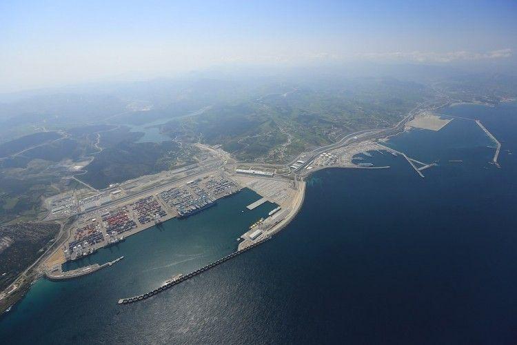 Panorámica aérea del puerto de Tánger Med
