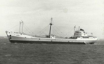 """El buque """"Arrabio"""", en sus pruebas de mar en aguas de Cádiz"""