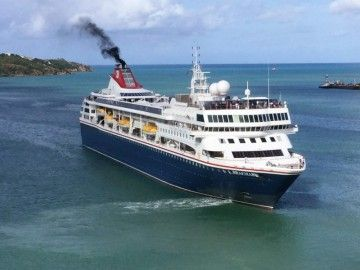 """El buque """"Braemar"""", de Fred. Olsen Cruise Line, se encuentra de cruceros por el Caribe"""