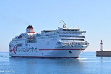 """Estampa marinera del ferry """"Ciudad Autónoma Melilla"""""""