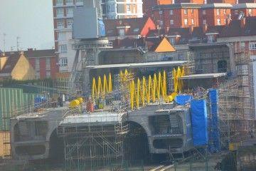 Estado de construcción del catamarán de Balearia en Astilleros Armón