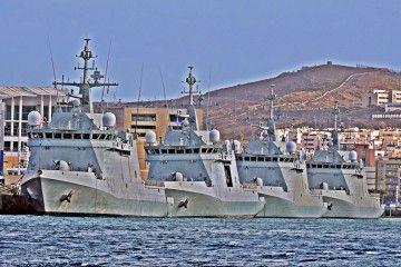 Imagen de los cuatro BAM adscritos al Mando Naval de Canarias