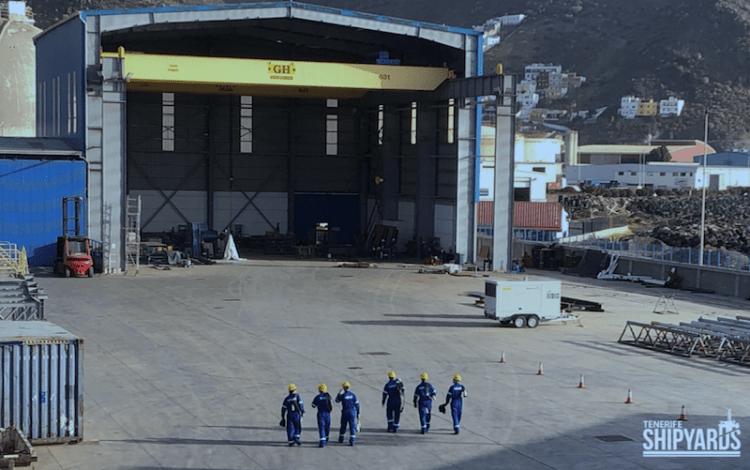 Vista parcial de las instalaciones de Tenerife Shipyards